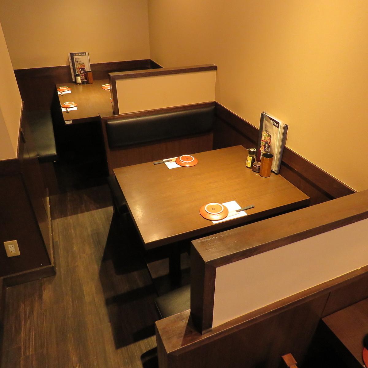 BOX座位可容納4人和2人。這是一個與朋友見面或快速回歸的好地方。我們也可以接受僅限座位的預訂。因為它很受歡迎,所以請儘早預訂!