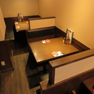 BOX seat for 4 people and 2 people.It's a good place to meet up with friends or just for a quick return.We can also accept reservations for only seats.As it is popular, make reservations early!