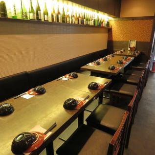 2名様~16名様 人数に応じて色々な形にレイアウトすることができるお席です。人数様のご相談・お料理のご相談はお気軽にご連絡ください♪小宴会・中宴会など様々なシーンでご利用頂けます!