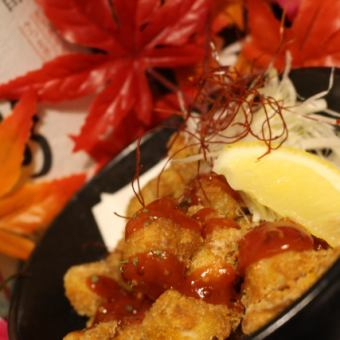 Deep fried chicken chili