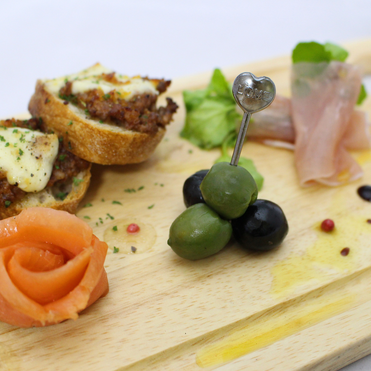 Five kinds of tapas