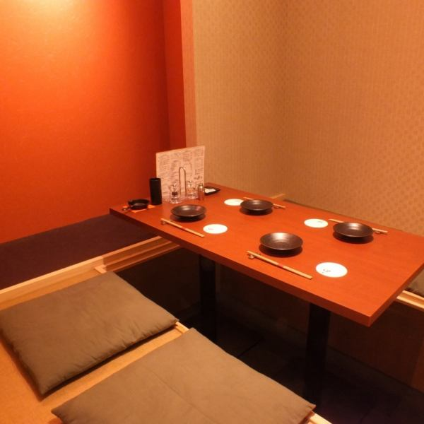 The digging tatami room is perfect for a small group of meals! The private room consists of 4 people and 3 rooms.Private rooms are limited to 4 people or more.Please do not hesitate to contact us if you are using 4 people or less.
