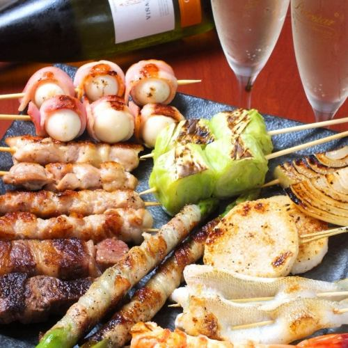 【◎ for company banquet】 90 minutes with drinking! Ebisu students can drink sparkling ♪ 【Midget skewer courses 4500 yen】