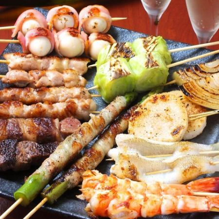 [If you get lost for the time being!] Recommended shopkeepers! 【Recommended 10 skewers set 1800 yen】