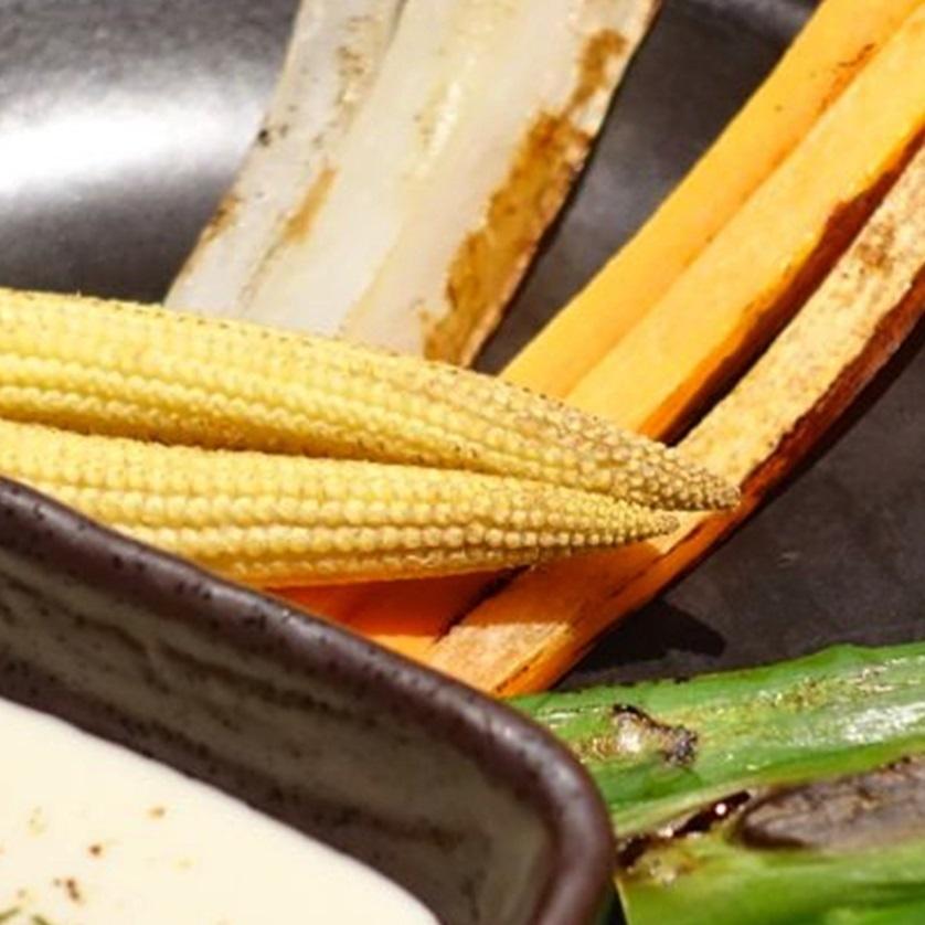 Grilled vegetables Bagna cauda