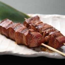 黒豚レバー串(塩、タレ、黒胡椒)