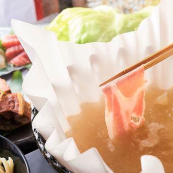 和紙しゃぶセット \当店名物!拘りの生姜黄金スープが決め手!一度は召し上がって頂きたい一押しです/