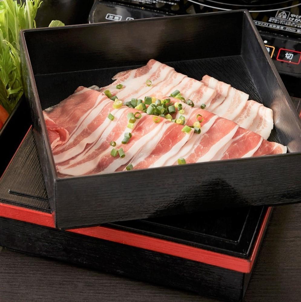 «샤브샤브 추가»돼지 고기 상자