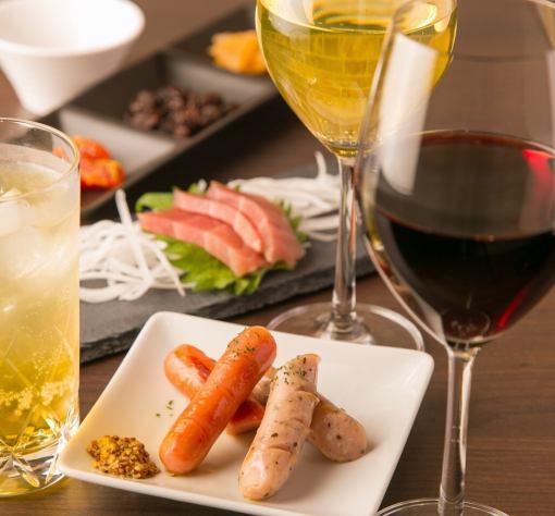 """""""卷完美的过程♪与肉和面食""""6项2小时饮料所有你可以5000日元"""