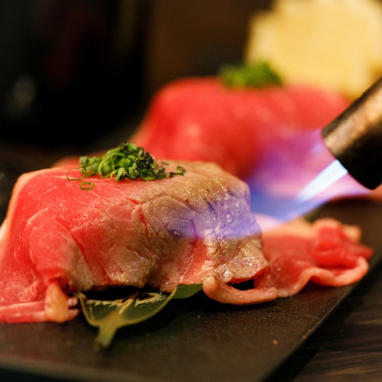【Luxury!】 Broiled Broiled Meat Sushi