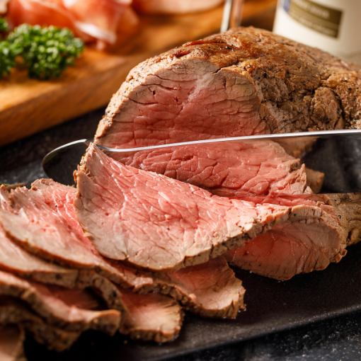 All-you-can-eat roast beef + all-you-can-drink all-you-can-eat 【Women's Party course】 8 dishes of cooking ♪ 4000 yen → 3500 yen