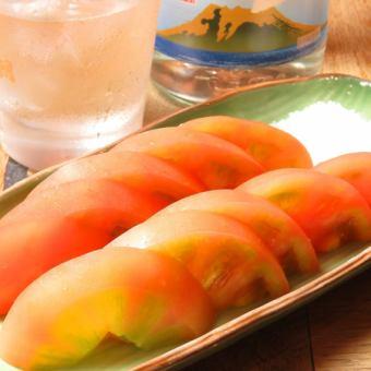 冷しトマトスライス/冷やっこ