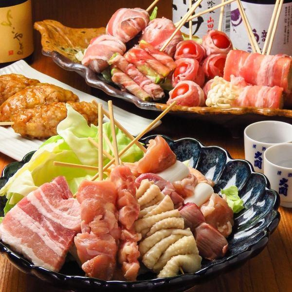 薩摩の地魚/天ぷら/名物つくねキング/焼き鳥/握り寿司…大満足の宴会コース
