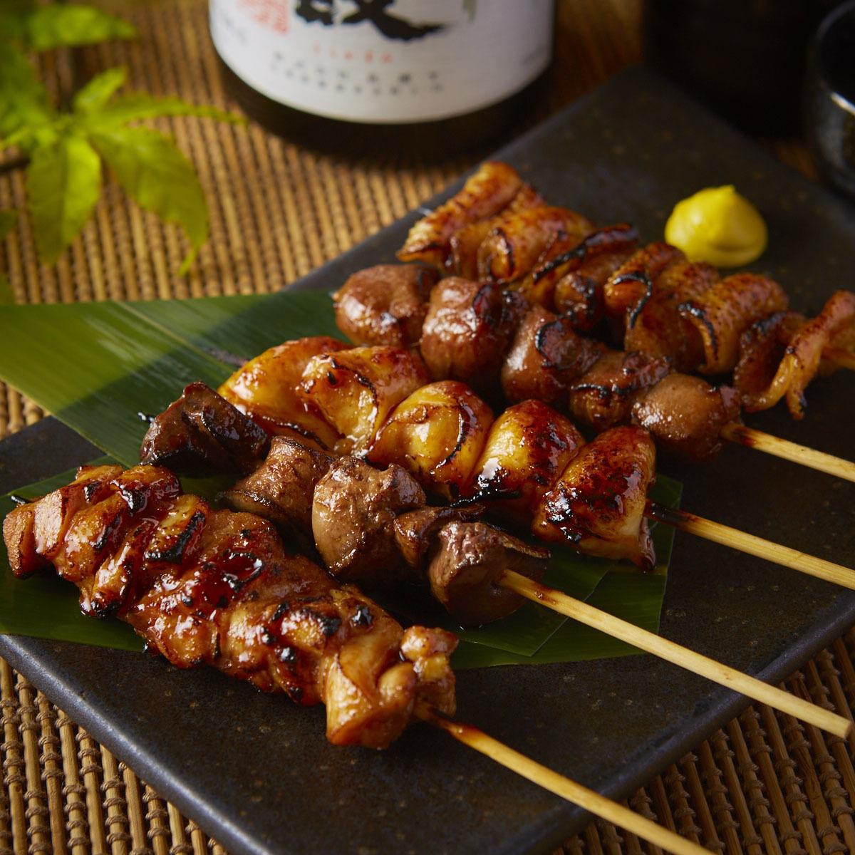 串焼き5種盛り合わせ (塩)(タレ)