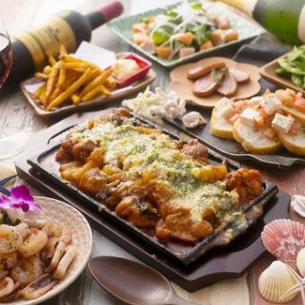 所有你可以吃的奶酪tacklebie所有你可以吃6项目课程+全友可以喝所有你可以吃♪3490日元→3290日元