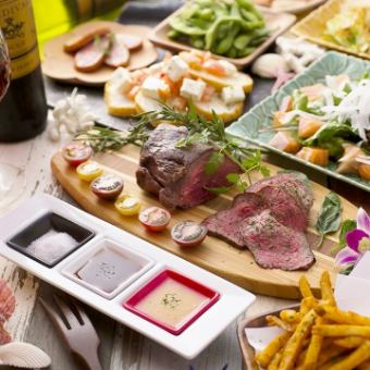 【2時間食べ飲み放題】約100種類のメニュー!牛ステーキや鉄板焼きOK♪平日2980円/週末3480円