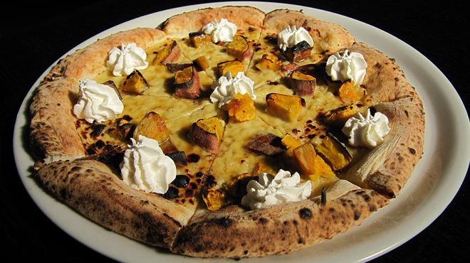 Grilled sweet potato and Maple