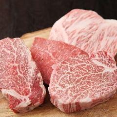 Domestic Japanese Black Wagyu beef A4 peach steak