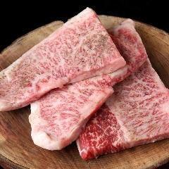 Domestic Japanese Black Wagyu beef A4 sirloin steak
