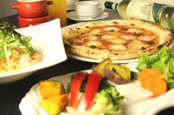 【晚餐套餐】Bagna马尾或奶酪火锅所有你可以吃蔬菜♪