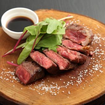 【Kuroge Wagyu beef A4 peach steak course】 9 cuisines & 2 hour free all you can drink