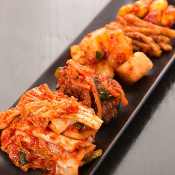 Assortment of kimchi