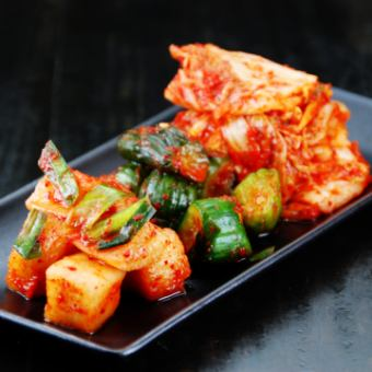 Three kinds of Kaya family kimchi