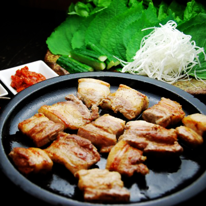 Matsusaka猪肉的Samgyeopsal