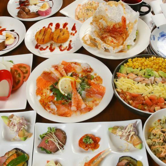 女子会コースが大人気♪旨いお肉と新鮮な魚介