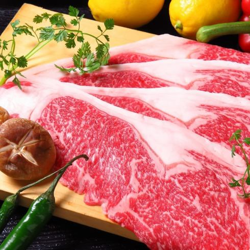 【Nishiki 3 chome】 Selected Miyazaki beef and relaxing space.Baked shabu-shabu is a must for eating ☆