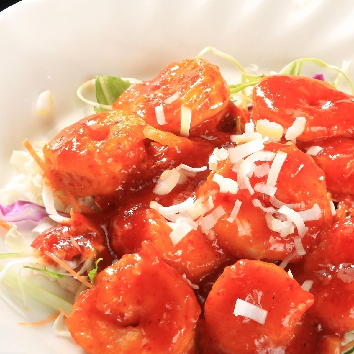 虾甜辣椒酱,虾蛋黄酱
