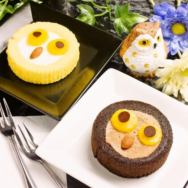 Owl's Mark is cute ♪ «Owl Cake ◆ Chocolate»