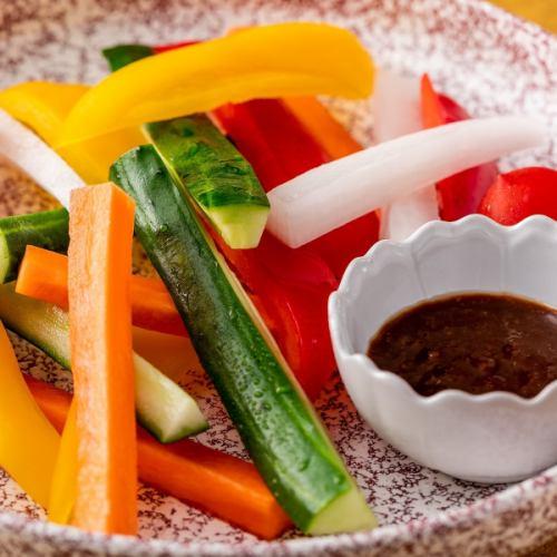 新鲜蔬菜棒沙拉