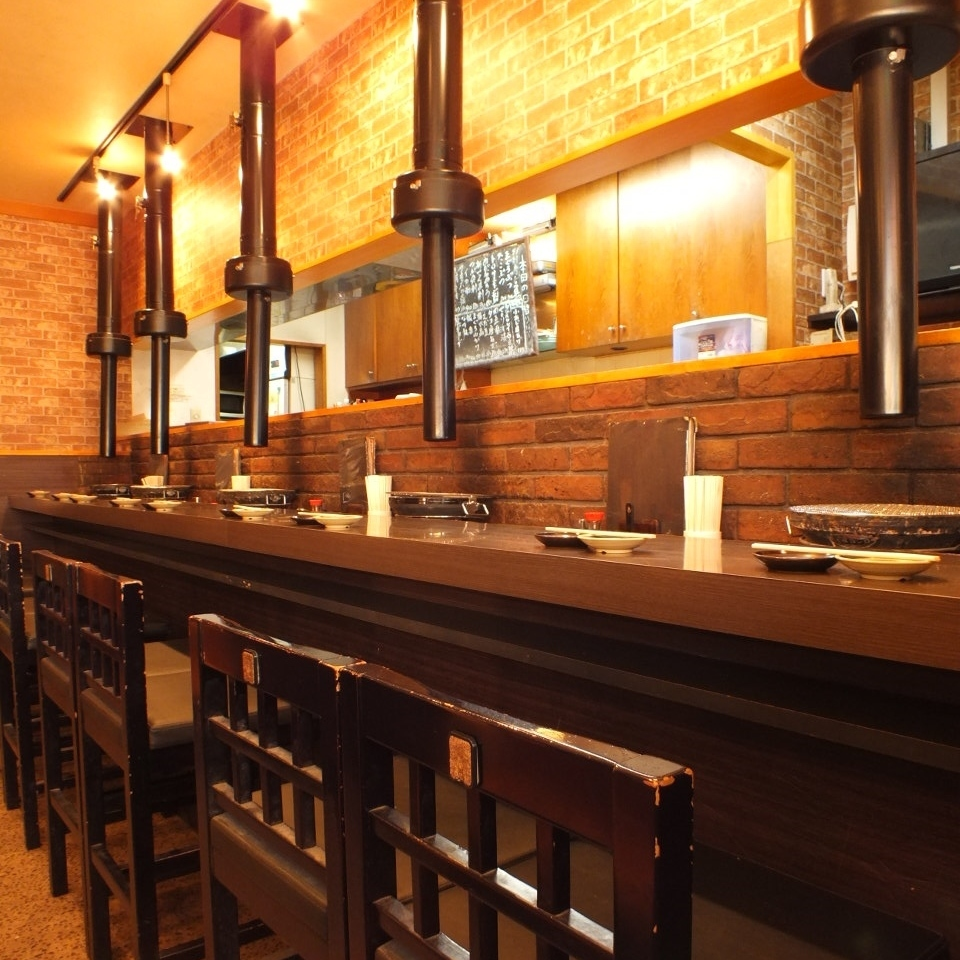 One person recommends counter seat ♪ You can also drink sake on your way back from work !!