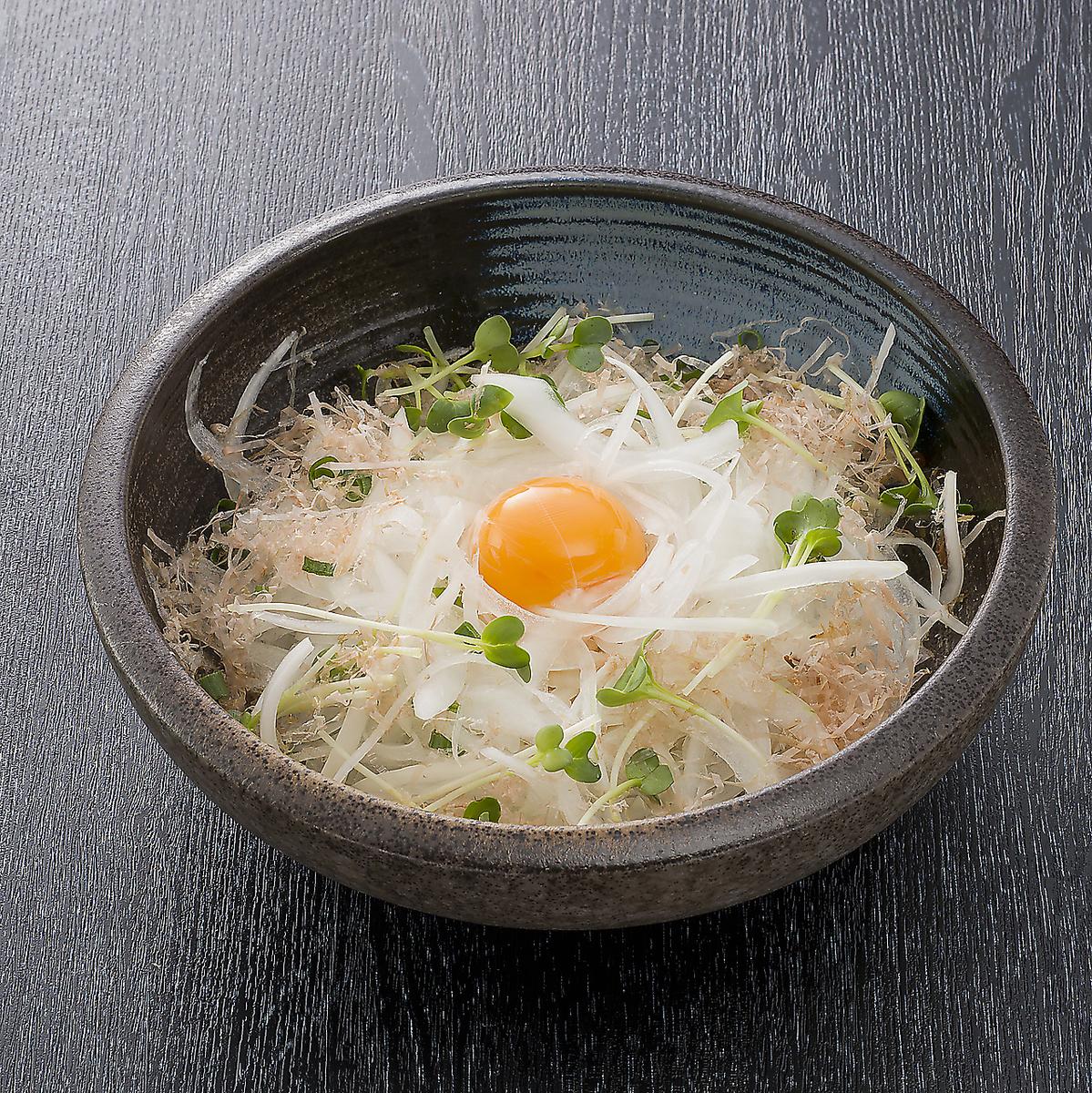 洋蔥切片與滋補雞蛋
