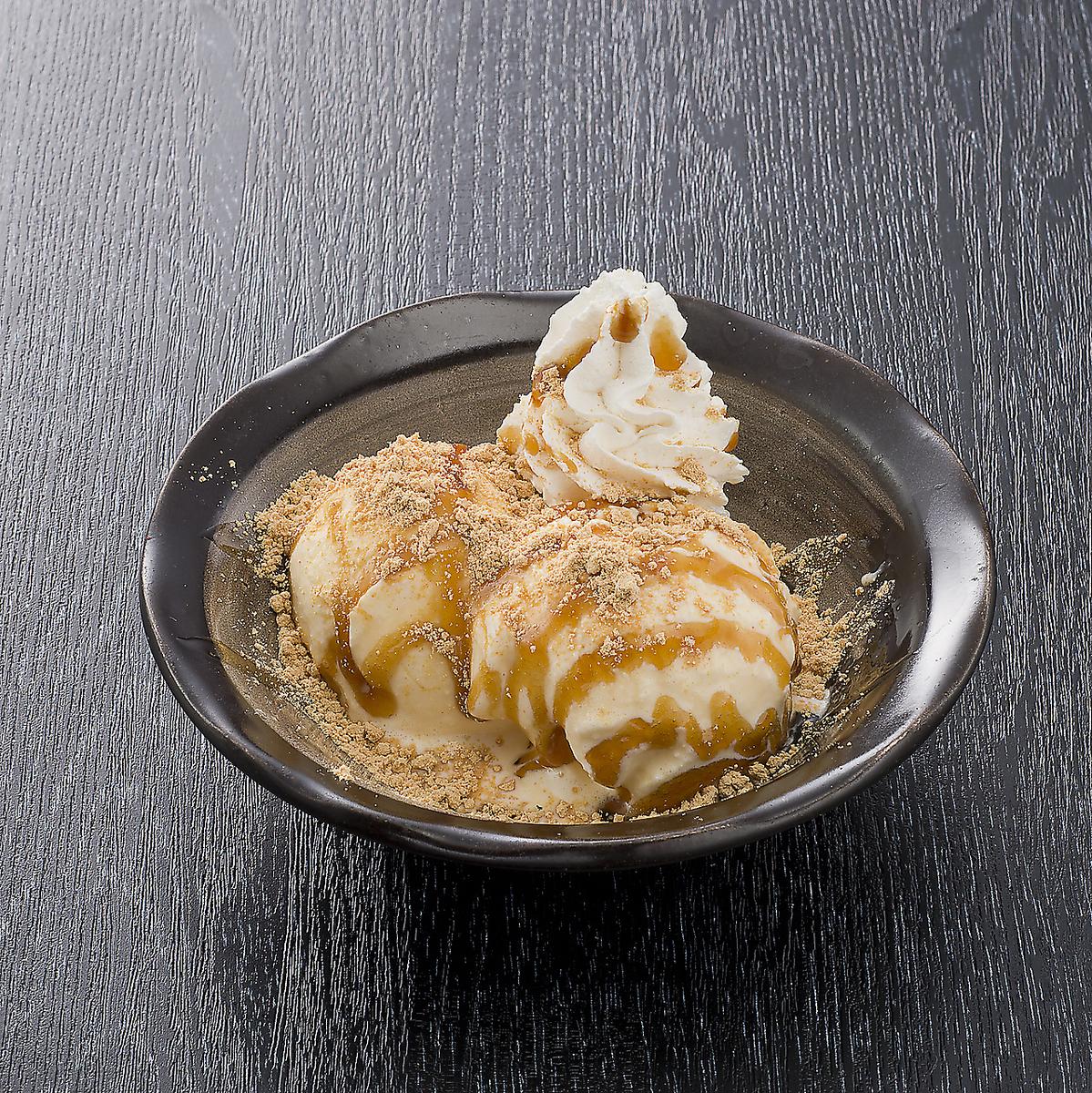栃木稻草年糕/黑蜂蜜kinako冰
