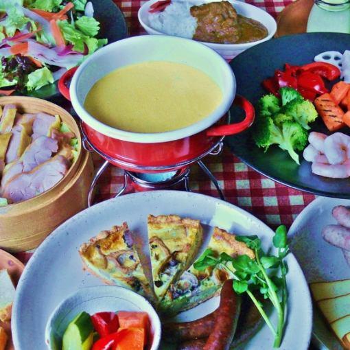 ★附贈的飲品·特別奶酪火鍋套餐★自製火鍋醬和Shinjutsu兼容性出眾