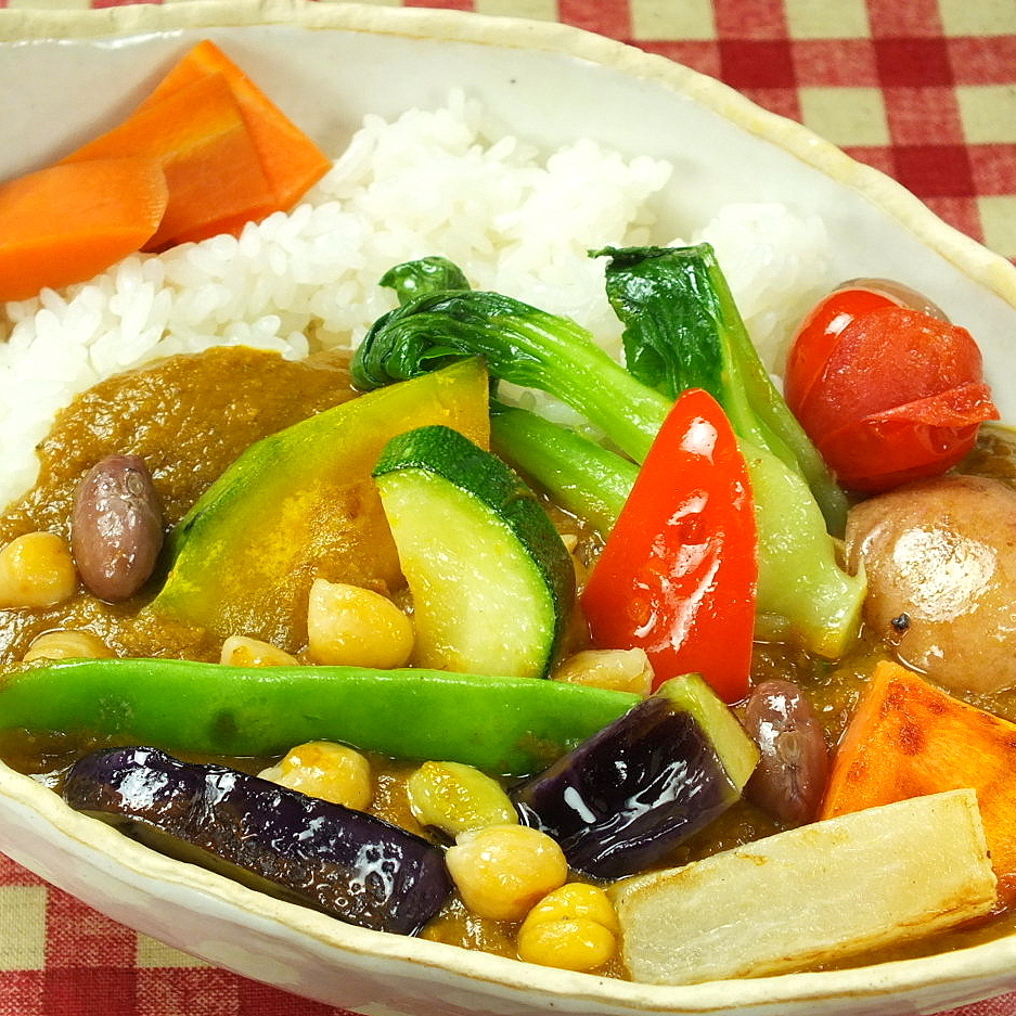 Vegetable curry · rich (sweet / medium spicy)