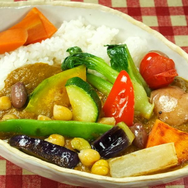 Flour is not used! Vegetables only in making the special curry [vegetable curry (Medium Hot / Dry)]