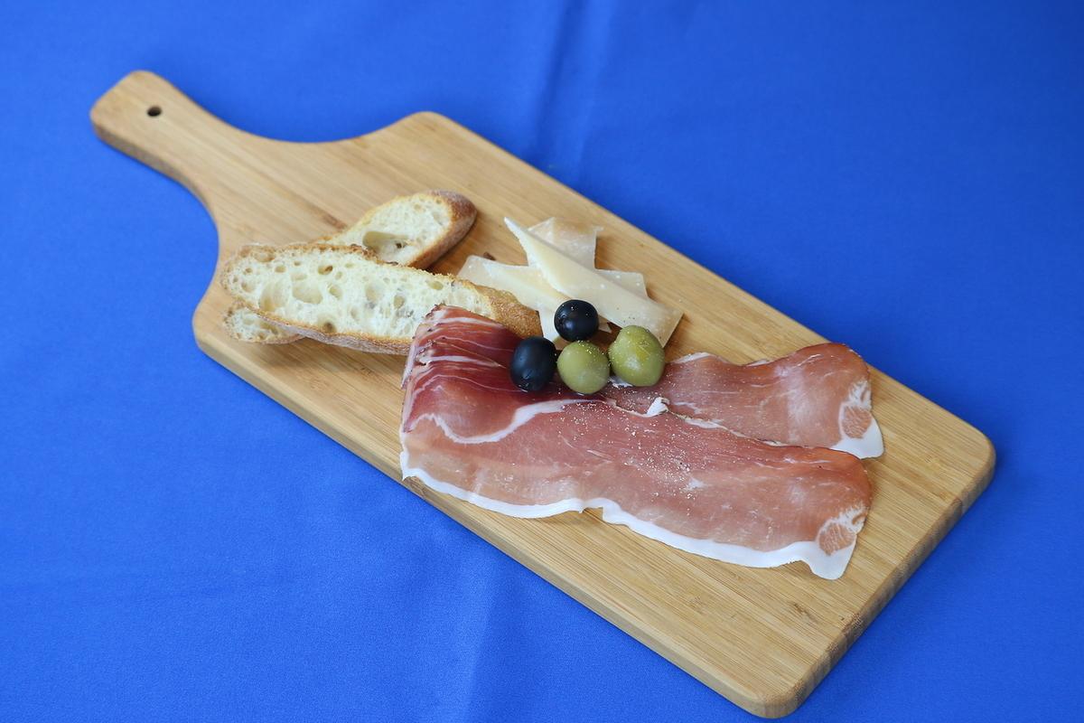 Raw ham & cheese