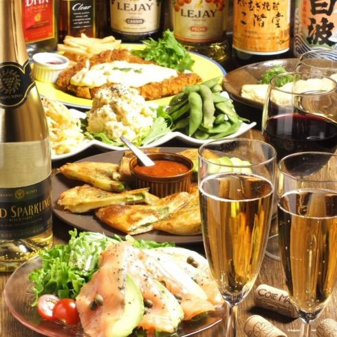 Enjoy a delicious meal and drinks @ Fashionable hideout dining bar ★ Women's Association course 3980 yen ♪