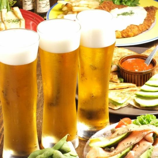 120 minutes with all you can drink ★ Popular course with tartar chiken cut and pizza ♪ All 4 items ◇ 3000 yen