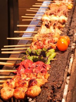 [Okinji] course plenty of skewers 11 kinds + 2 items ⇒ 2,200 yen