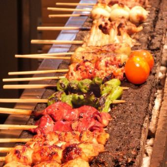 "【""Okin"" drinking course】 Skewer 11 kinds + 2 items + 120 minutes [drinking] 4000 yen"