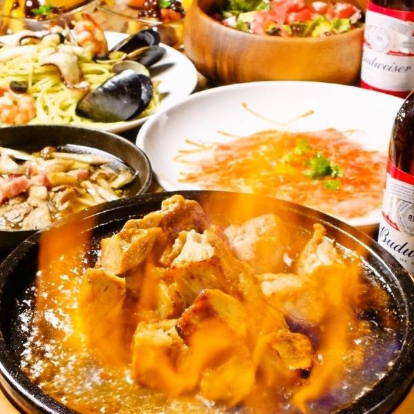 【Specialties】 Salsa Chicken All-you-can-eat course 5000 yen → 3900 yen