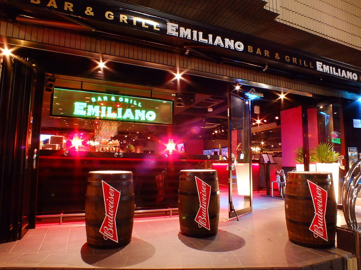It is also possible to eat and drink in a standing drink style in the outside BAR area ☆