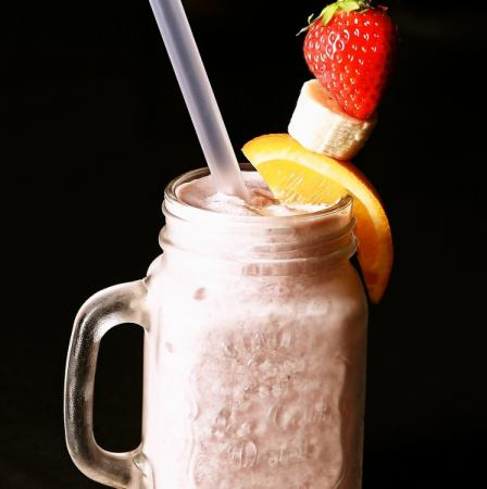 Fruits mix Protein smoothie Mix fruits Protein smoothie
