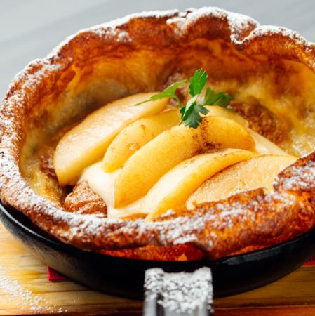 Baked Pan Cake ~ Cinnamon Apple - Baked pan cake ~ Cinnamon apple ~