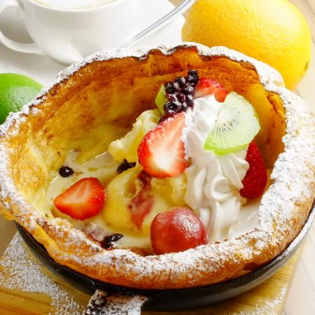 Baked Pancake ~ MIX Fruit ~ Baked pan cake ~ Mix fruits ~