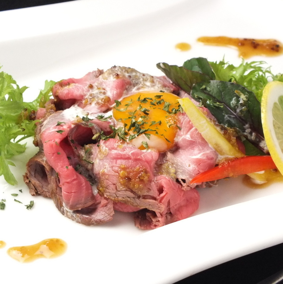 ★ 【Menu that I want you to eat only this】 Hors bears! Homemade roast beef